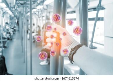 Corona-Virus, COVID-19, 2019-nCoV, Der Keim verbreitet sich von Person zu Person durch direkten physischen Kontakt