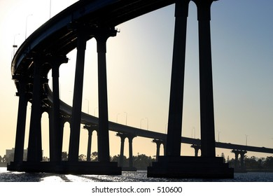The Coronado Bay Bridge located in San Diego California CA on the Pacific Ocean