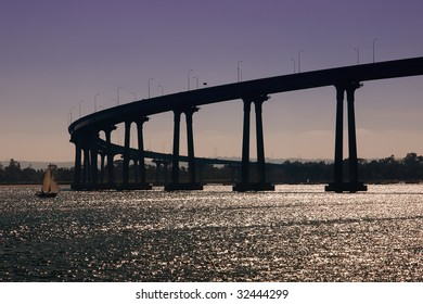 The Coronado Bay Bridge in San Diego, California