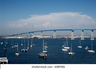 Coronado Bay Bridge in San Diego