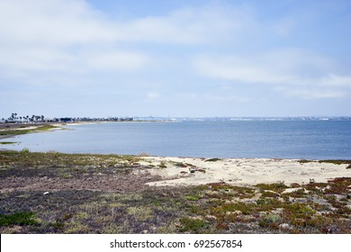 Coronado Bay, California's Silverstrand beach, looking towards San Diego
