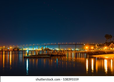 Coronado bridge by night, California