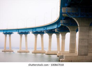Coronado Bridge Connecting Downtown San Diego and Coronado Island, Southern California Coast, USA