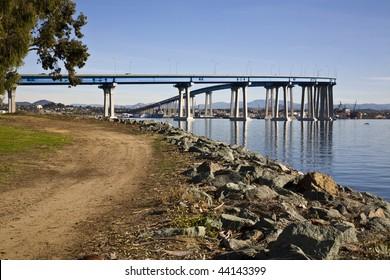 Coronado Bridge connecting San Diego to Coronado