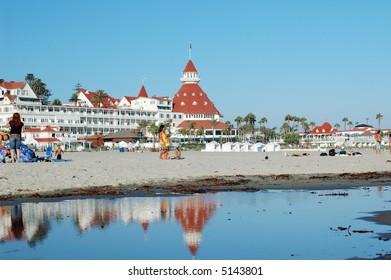Coronado Hotel and beach, San Diego metro area