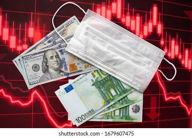 Coronavirus beginning of recession USD and EURO 2020