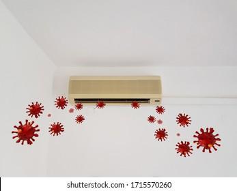 coronavirus covid-19 condition de l'air condition de l'air - transmission du virus de la climatisation