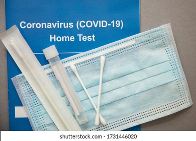 Coronavirus Covid-19 home testing kit with swab and test tube