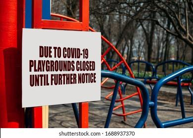 Coronavirus lockdown, quarantine. Amusement parks, playground, beaches and public gardens closed to the public during Covid-19 lockdown. Coronavirus: How walk safely