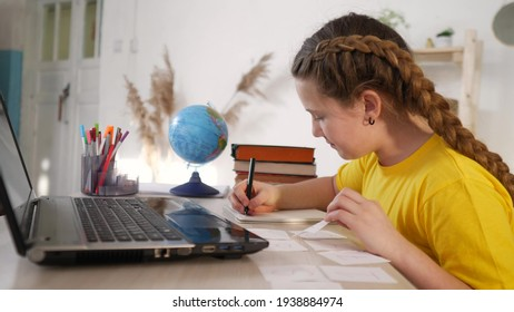 coronavirus school. child at home in a lesson virtual. learning education coronavirus pandemic concept. kid learn online learning school. online learning at study home. distance education