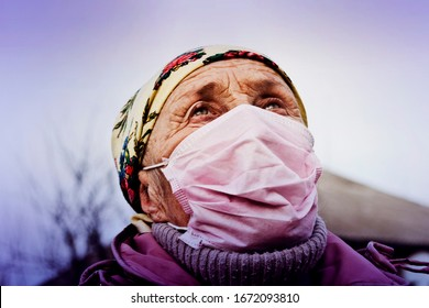 Coronavirus. The spread of the deadly coronavirus from Wuhan. Coronavirus in Italy. Masked woman fears coronavirus infection. Deficiency of medical masks in countries where COVID-19