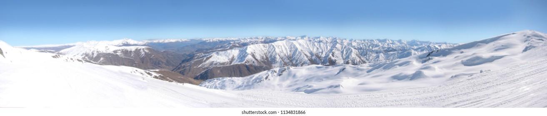 Coronet Peak Ski Area New Zealand Panorama