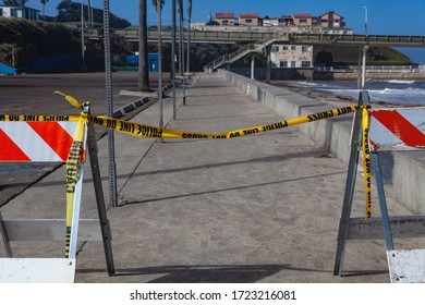 coronovirus Covid19 shutdown at california beaches