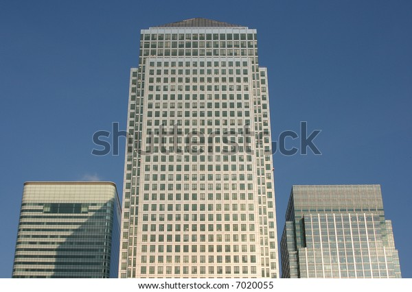 Corporate buildings at Canary Wharf
