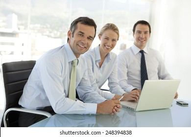 Corporate business managers team meeting