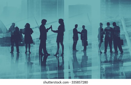Corporate Business People Team Discussion Working Concept