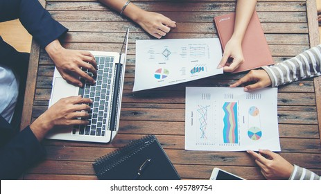Corporate Business Planning with business chart Teamwork Concept.