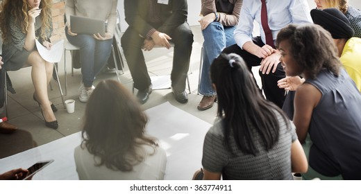 Corporate Communication Business Sharing Support Concept
