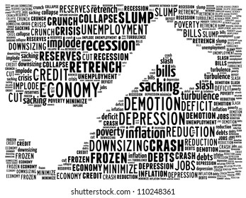 Corporate cost cutting: text graphics