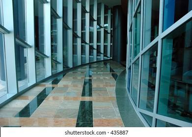 Corporate hallway
