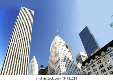 Corporate highrises. New York City.