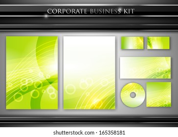 Corporate identity kit or professional business. Includes CD Cover, Business Card, Envelope and Letter Head Designs