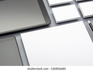 Corporate identity and mobile web design mockup
