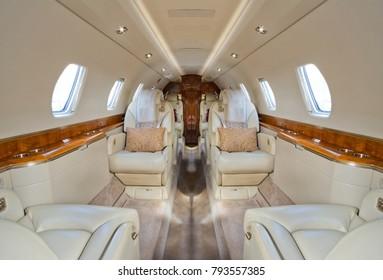 Corporate jet interior