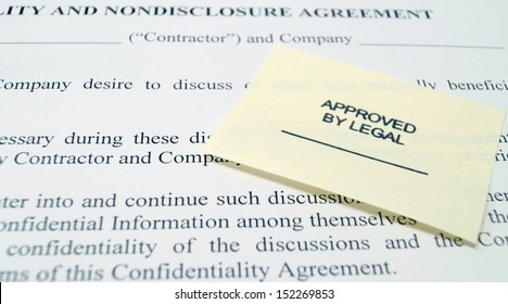Corporate legal confidentiality and non-disclosure agreement