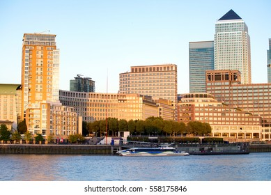 Corporate Office building in Canary Wharf, London.