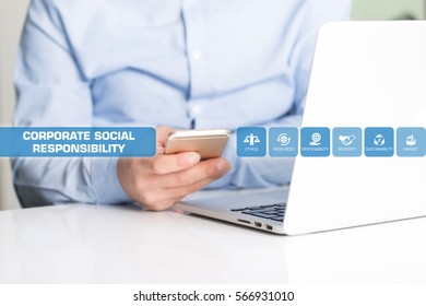 Corporate Social Responsibility Concept with Icon Set