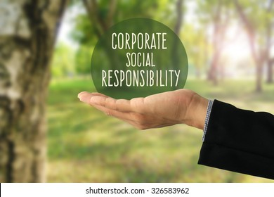 Corporate social responsibility (CSR) concept