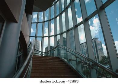 Corporate stairway