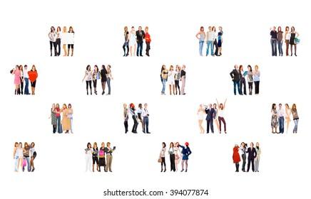Corporate Teamwork People Diversity  - Shutterstock ID 394077874