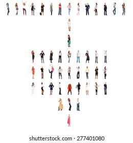 Corporate Teamwork Workforce Concept  - Shutterstock ID 277401080