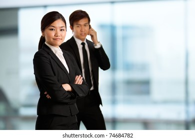 Corporate themed image of business people