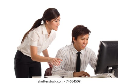 Corporate themed image of a people working
