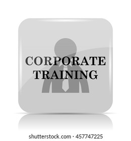 Corporate training icon. Internet button on white background.