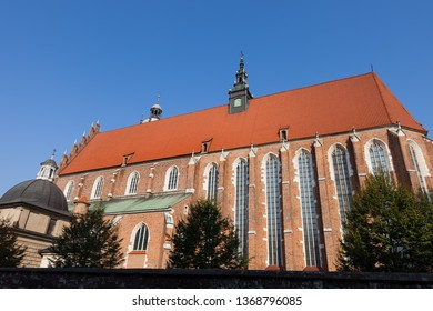 Corpus Christi Basilica in Krakow, Poland, Gothic church founded by King Casimir III the Great in 1335.