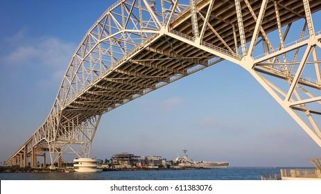 Corpus Christi Harbor Bridge in the Port of Corpus Christi, Texas