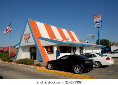 CORPUS CHRISTI, USA - OCT 20: Whataburger fast food restaurant in Corpus Christi. October 20, 2008 in Corpus Christi, Texas, USA