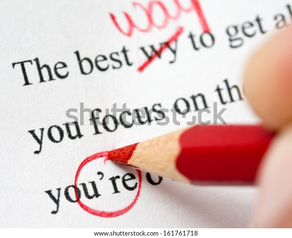Correcting grammar and spelling errors in term paper