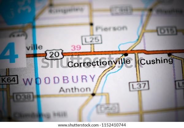 Correctionville. Iowa. USA on a map