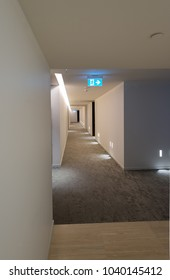 Corridor, aisle of the high rise, condo building. Interiour design.