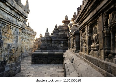 Corridor of Borobudur Temple, Jogja, Indonesia 2