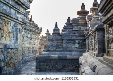 Corridor of Borobudur Temple, Jogja, Indonesia 1