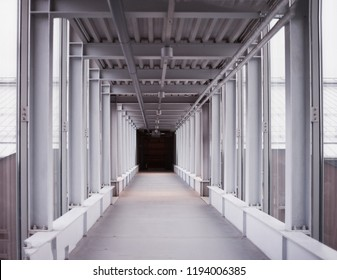 Corridor in a building interior