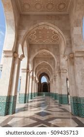 Corridor, Hassan II Mosque Casablanca, Morocco