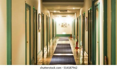 Corridor in hotel room