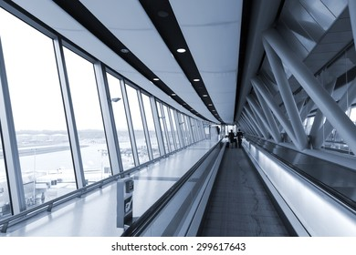 corridor inside the airport